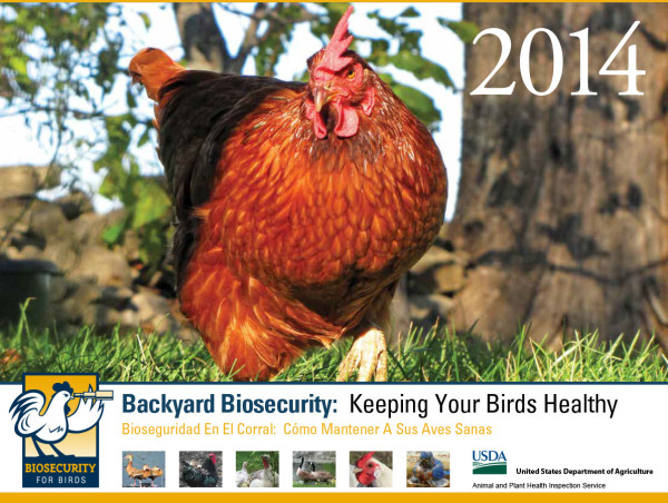 Biosecurity for Birds calendar 2014