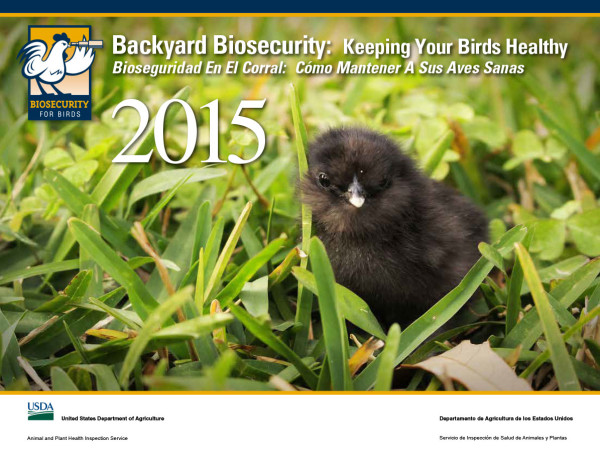 Biosecurity for Birds calendar 2015